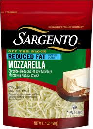 sargento light string cheese calories shredded reduced fat mozzarella sargento