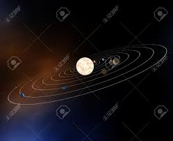 diagram of the planets in the solar system stock photo picture