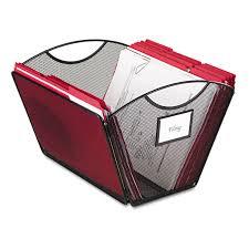 Safco Desk Organizer by Onyx Mesh Desktop Tub File Storage Box By Safco Saf2162bl