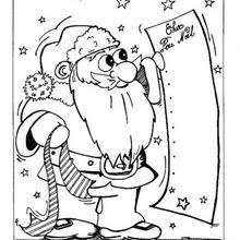 dog biting santa coloring pages hellokids