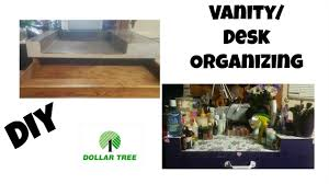 how i organized my vanity using products from dollar tree diy