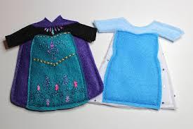 frozen elsa dresses felt quiet book princess dress doll