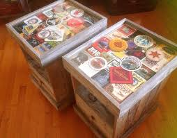 15 unique decoupage furniture projects beer coasters beer and