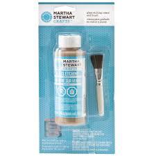 martha stewart crafts glass etch cream u0026 brush