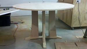 How To Make A Round End Table by Round Pedestal Table Build In Progress Woodworking Talk