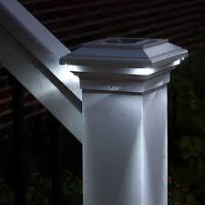 trex post cap lights trex post cap solar light deck lighting post lights led step stair