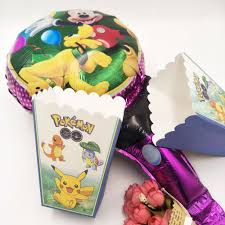 6pcs set pokemon birthday party supplies for boys and girls event