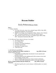 Free Resume Builder Online Printable by College Resume Builder For High Students Free Resume