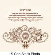 mehndi card henna mehndi card template mehndi invitation design vector