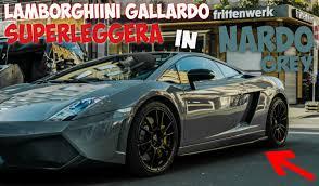 grey lamborghini lamborghini gallardo lp 560 4 superleggera in nardo grey youtube