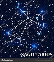 symbol sagittarius zodiac sign vector illustration u2014 stock