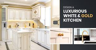 white kitchen cabinets with gold countertops white and gold kitchen design ideas your clients will
