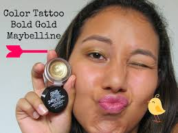 resenha sombra color bold gold maybelline