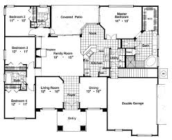 4 bedroom ranch floor plans ranch house plan with 4 bedrooms and 3 5 baths plan 4209