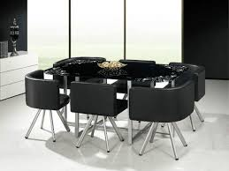 Round Dining Table With Glass Top Furniture S Delectable Contemporary Dining Table Black Walmart