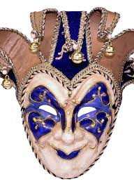 jester mask deluxe jester blue masquerade mask