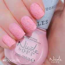 roughles textured pastel nail lacquer nicole by opi