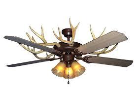 Deer Antler Ceiling Fan Light Kit Lodge Ceiling Fan With Light Antler Ceiling Fan Light Deer Fans