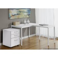 jesper office parsons l shaped desk with mobile pedestal in x
