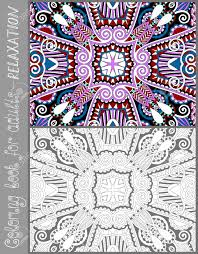 unique coloring book adults flower paisley pattern