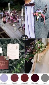 plum wedding plum and wine wedding colors grey