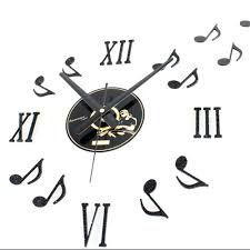 creative wall clock medieval wall clock nostalgic time music note wall clock creative