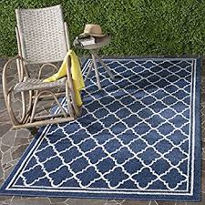 Xl Outdoor Rugs Safavieh Amherst Collection Amt422p Navy And Beige