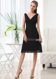 knee length bridesmaid dresses us 99 99 black v neck chiffon knee length bridesmaid dresses less