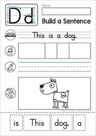 phonics letter of the week c sentence building cut and paste