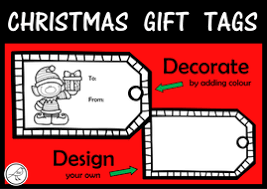christmas gift tags u2013 black and white templates by