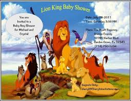 lion king baby shower invitations lion king invitations