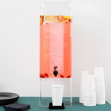 Acrylic Cylinder Vase Cal Mil 1112 5a Clear Acrylic 5 Gallon Square Beverage Dispenser