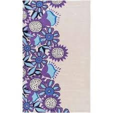 Purple And Turquoise Area Rug Floral Purple Area Rugs Rugs The Home Depot