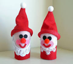 preschool crafts for toilet roll santa craft