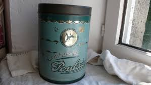 green kitchen canister french writing french country vintage