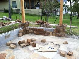 ideas stone fireplace with backyard patio outdoor plans pictures