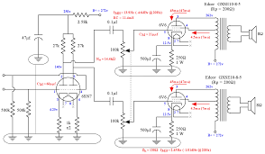 se ul 6v6 lifier schematic showing both channels 6h8 6v6