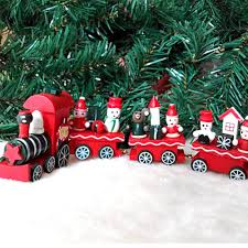 decorative christmas wooden trains reviews online shopping