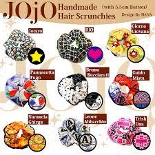 handmade hair jojo s adventure inspired handmade hair scrunchies on storenvy