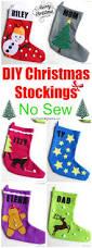 Homemade Christmas Stockings by Diy Christmas Stockings No Sew