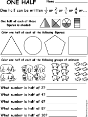 fractions enchantedlearning com