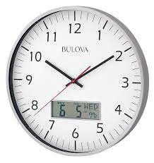amazon com bulova manager wall clock home u0026 kitchen