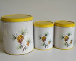 28 tin kitchen canisters kitchen canisters parmeco tin chef tin kitchen canisters vintage pine cone tin canisters kitchen metal by