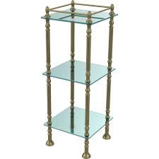 Vintage Bathroom Accessories by Antique Brass Vanity U0026 Glass Shelving Bathroom Accessories