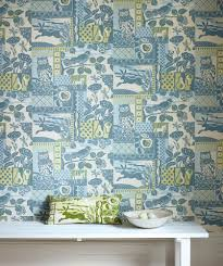 Temporary Fabric Wallpaper by Decorating Wonderful Wallpaper By Cowtan And Tout Plus White
