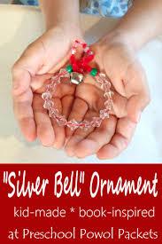 silver bell ornament book inspired kid made preschool powol