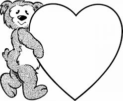 printable coloring pages teddy bear heart coloring pages