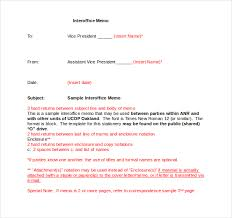 interoffice memo templates 20 free sample example format