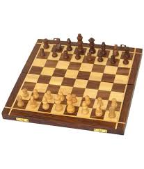 desi karigar brown wooden chess board buy online at best price on