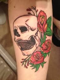 23 best skull with roses tattoo images on pinterest skulls and